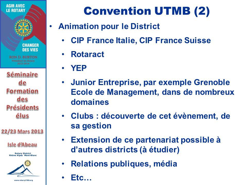 Convention UTMB (2) Animation pour le District CIP France Italie, CIP France Suisse Rotaract YEP Junior Entreprise, par exemple Grenoble Ecole de Mana