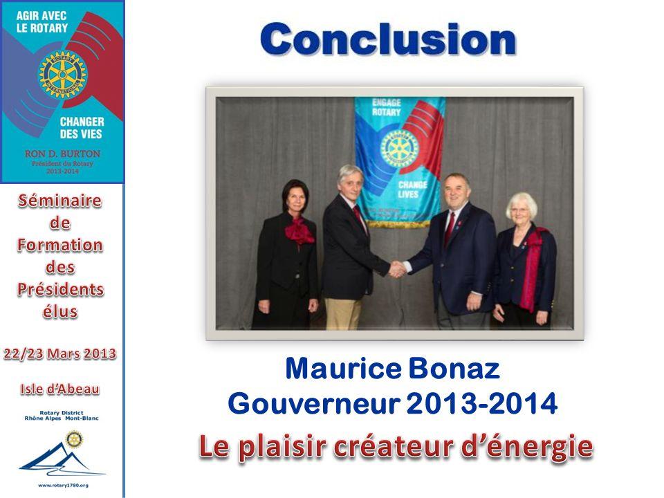 Maurice Bonaz Gouverneur 2013-2014
