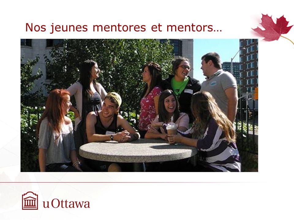 Nos jeunes mentores et mentors…