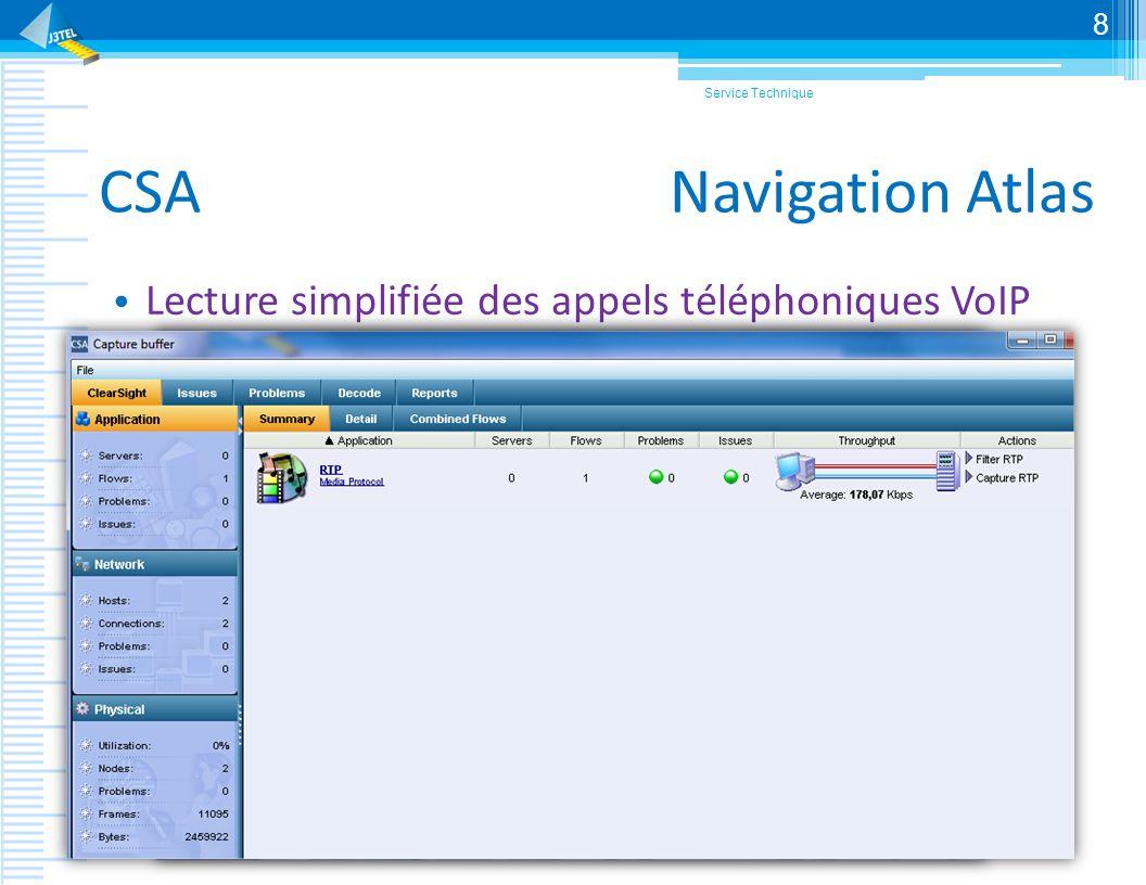 CSA Navigation Atlas Lecture simplifiée des appels téléphoniques VoIP Service Technique 8