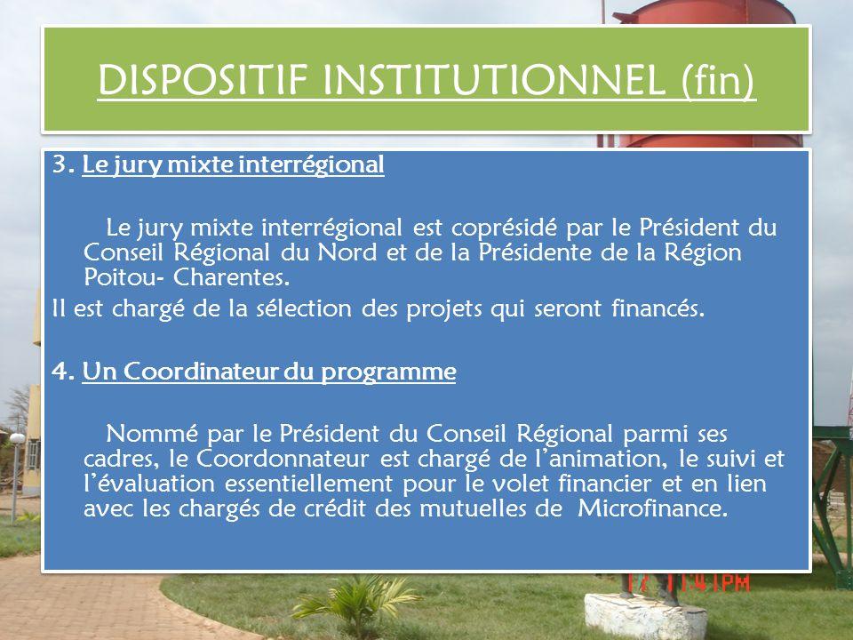 3. Le jury mixte interrégional Le jury mixte interrégional est coprésidé par le Président du Conseil Régional du Nord et de la Présidente de la Région