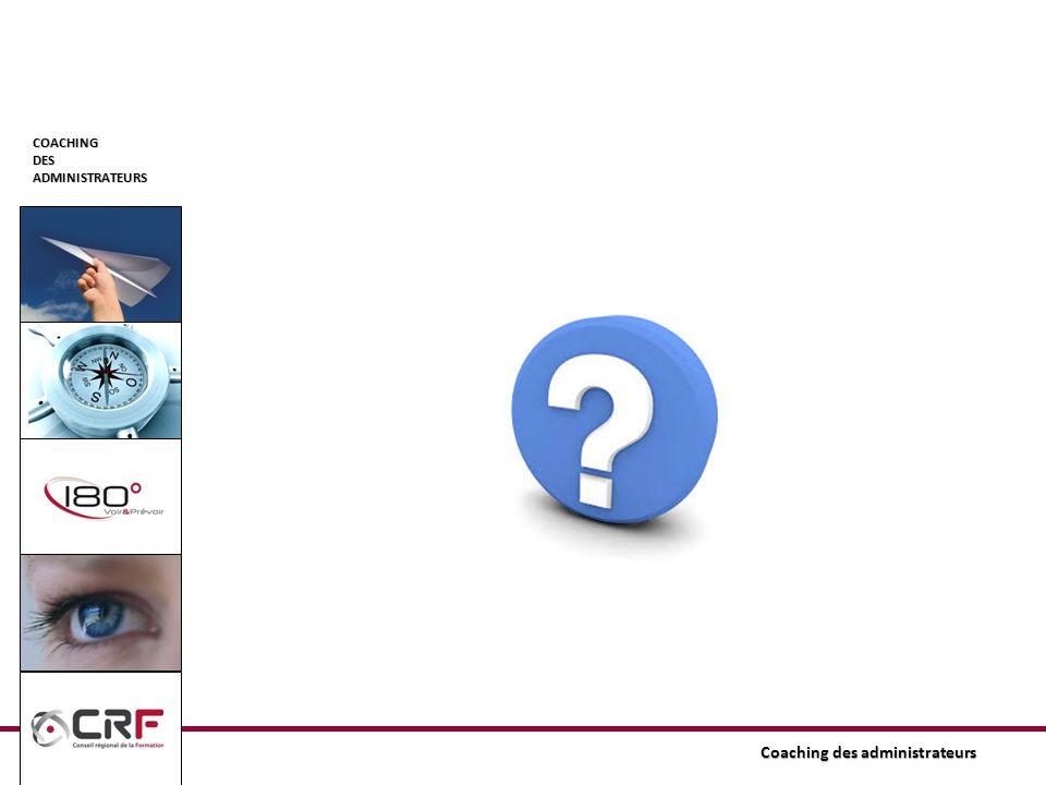 COACHINGDESADMINISTRATEURS Coaching des administrateurs Partie « Plan de formation » Rubrique « Dernier plan de formation approuvé » -Rubrique qui permet de consulter le Plan de formation final et déditer chaque élément qui le compose pour le compléter (suivi)