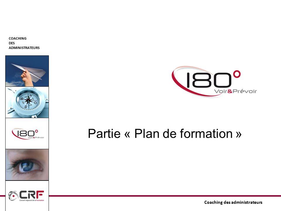 COACHINGDESADMINISTRATEURS Partie « Plan de formation »