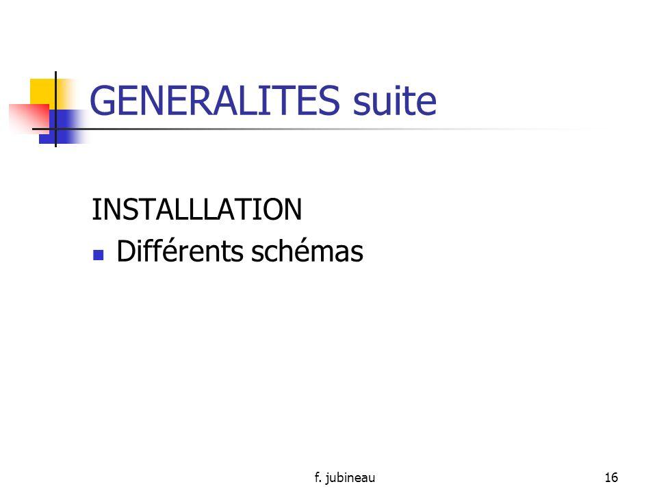 f. jubineau15 GENERALITES suite Comment ?: - Ordre de jour précis - Consensus daccord sur la manière de fonctionner - Courte durée: facilite mobilisat