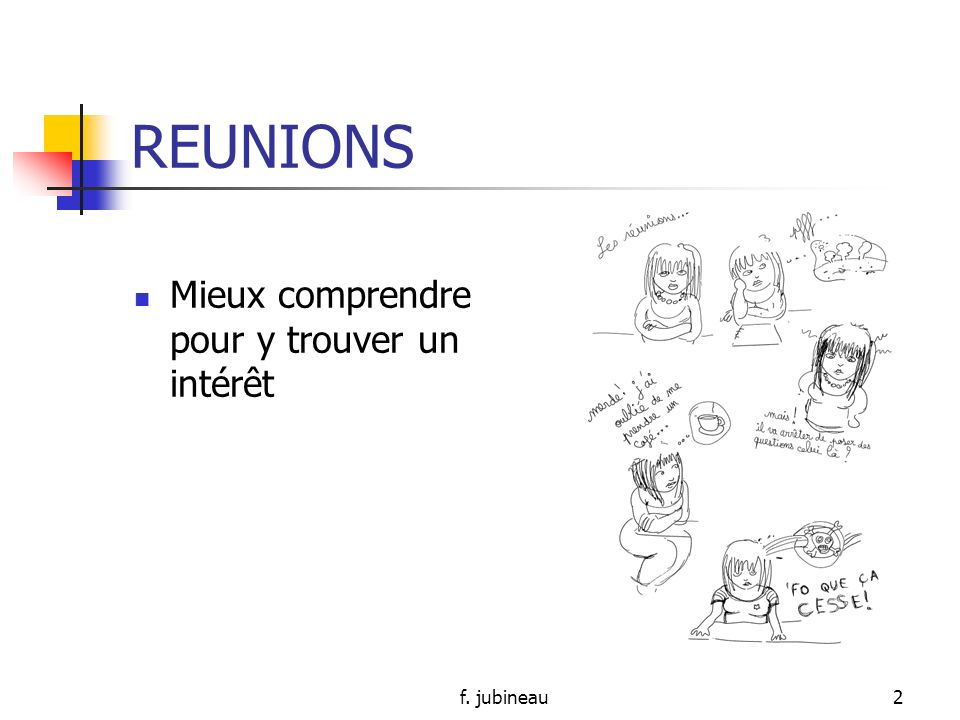 DIFFERENTS TYPES DE REUNION Module 7 Promotion septembre 2009- juin 2010