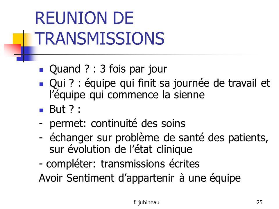 f. jubineau24 REUNION DE TRANSMISSIONS Intérêt?