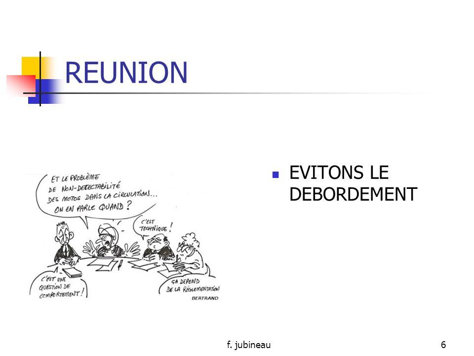 f. jubineau26 REUNION DORGANISATION Intérêt ?