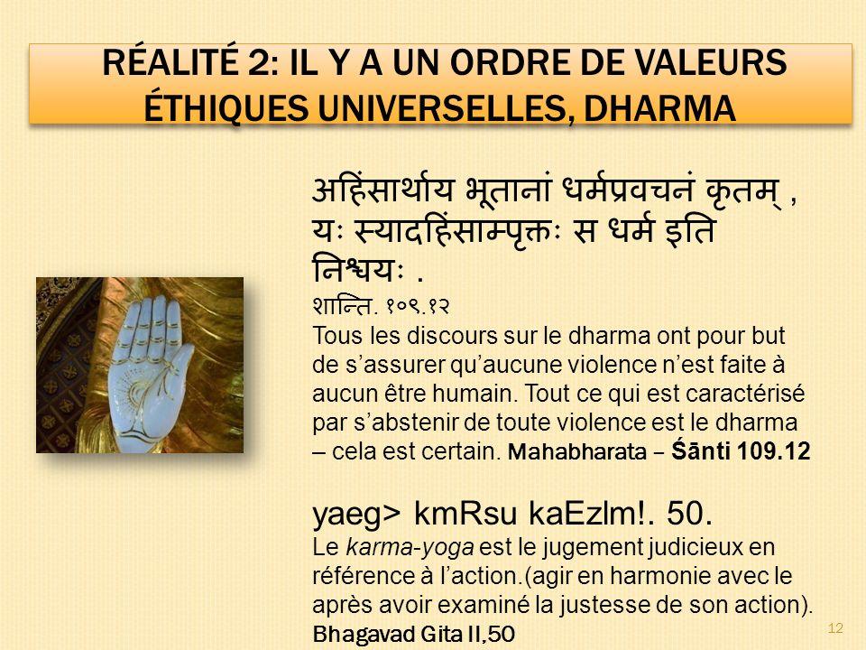 ,... Tous les discours sur le dharma ont pour but de sassurer quaucune violence nest faite à aucun être humain. Tout ce qui est caractérisé par sabste