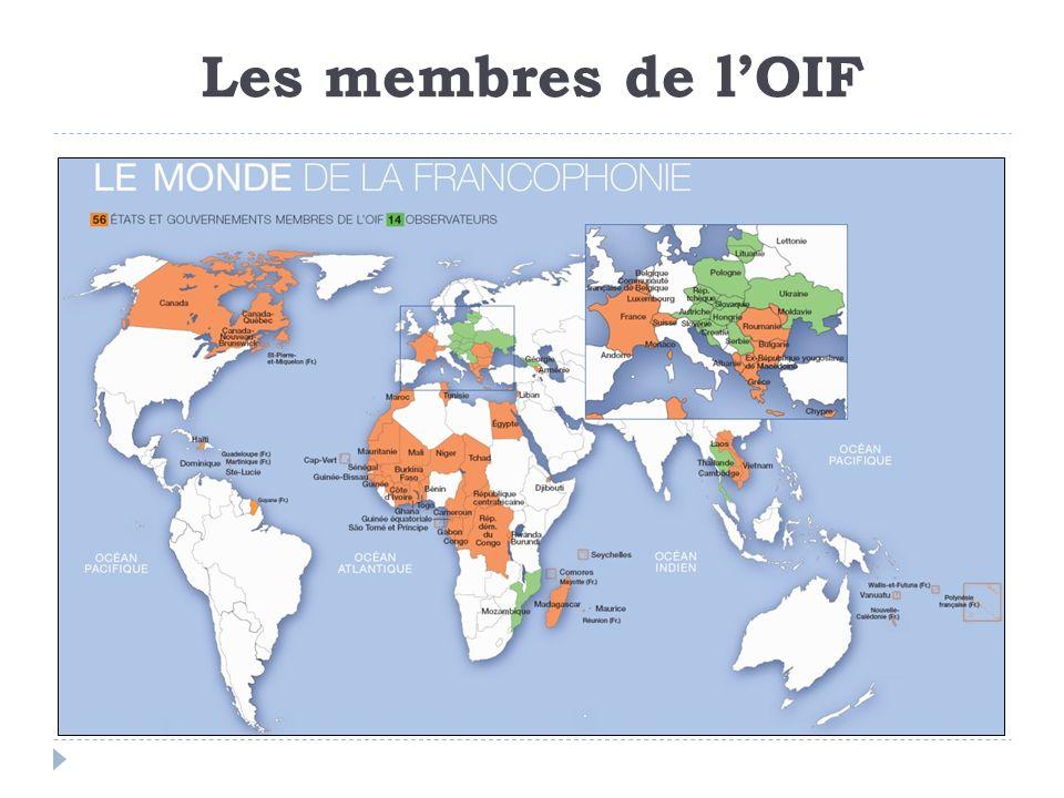 Les membres de lOIF