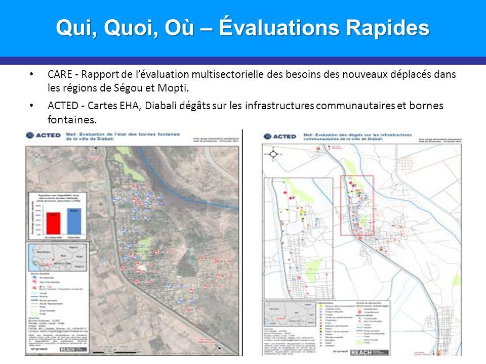 CARE - Rapport de lévaluation multisectorielle des besoins des nouveaux déplacés dans les régions de Ségou et Mopti.