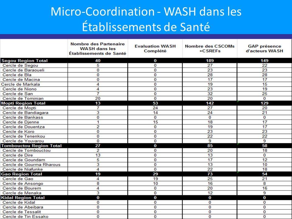 Micro-Coordination - WASH dans les Établissements de Santé 9