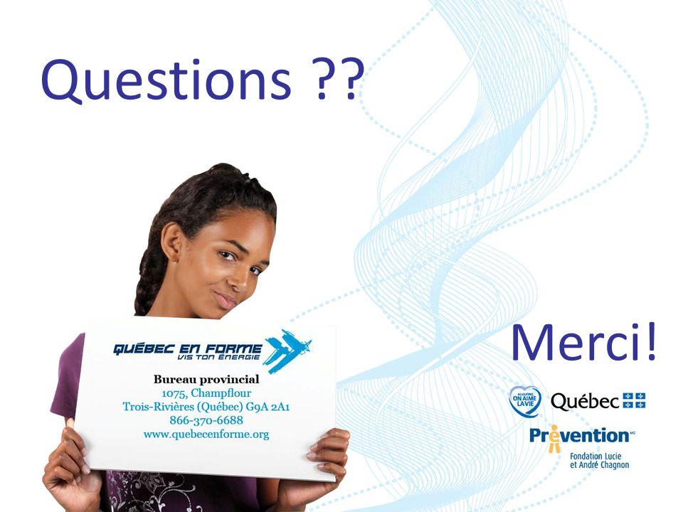 À vous la parole… Nous (Québec en Forme, signataires, et partenaires) croyons que les CPE ont un rôle à jouer. Vous êtes déjà en mouvement. Comment po