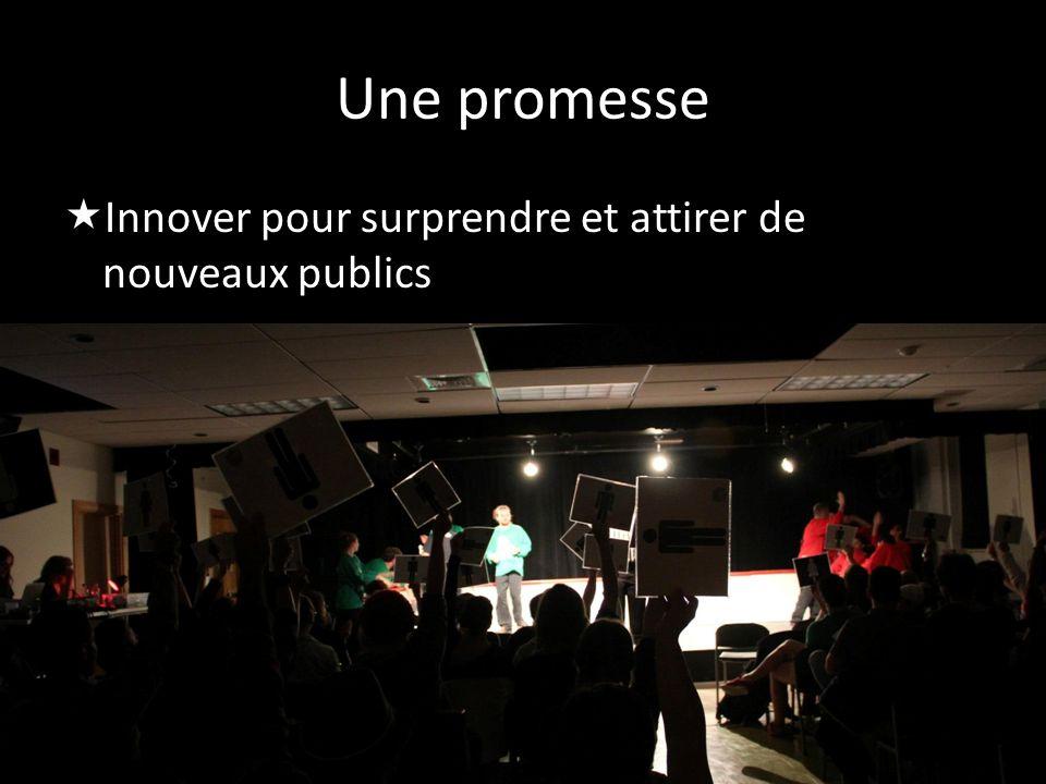 Une promesse Innover pour surprendre et attirer de nouveaux publics