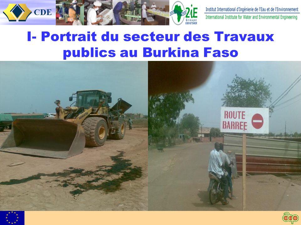 CDE I- Portrait du secteur des Travaux publics au Burkina Faso