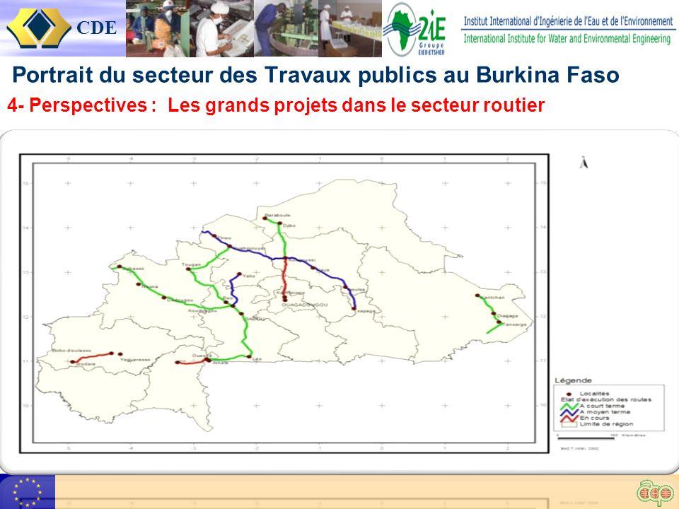 CDE Portrait du secteur des Travaux publics au Burkina Faso 4- Perspectives : Les grands projets dans le secteur routier