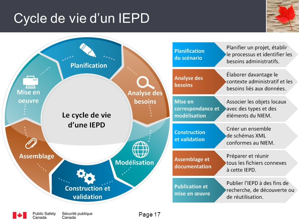 Cycle de vie dun IEPD Page 17
