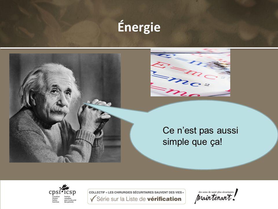 Énergie Ce nest pas aussi simple que ça!