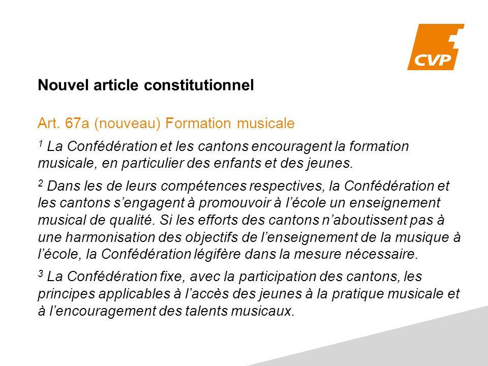 Nouvel article constitutionnel Art.