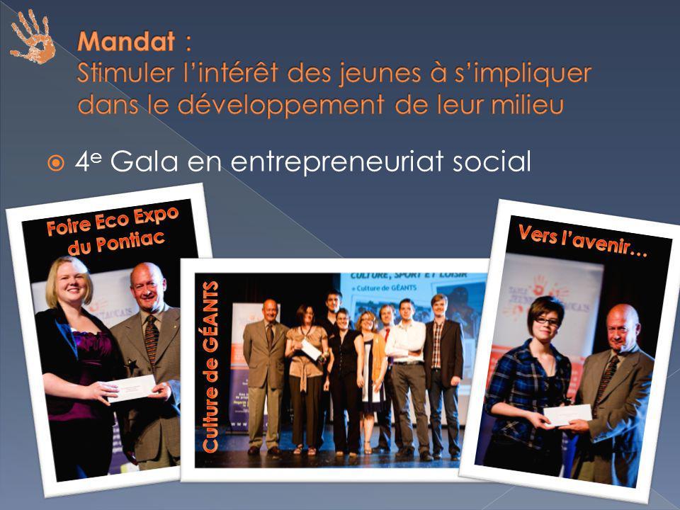 4 e Gala en entrepreneuriat social