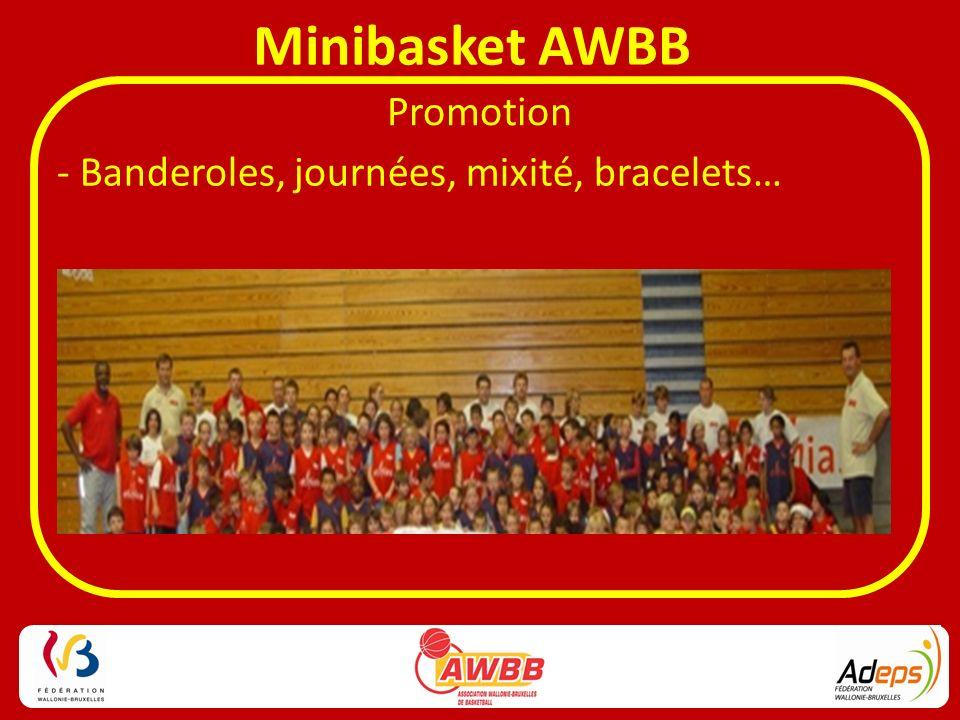 Minibasket AWBB Promotion - Banderoles, journées, mixité, bracelets…