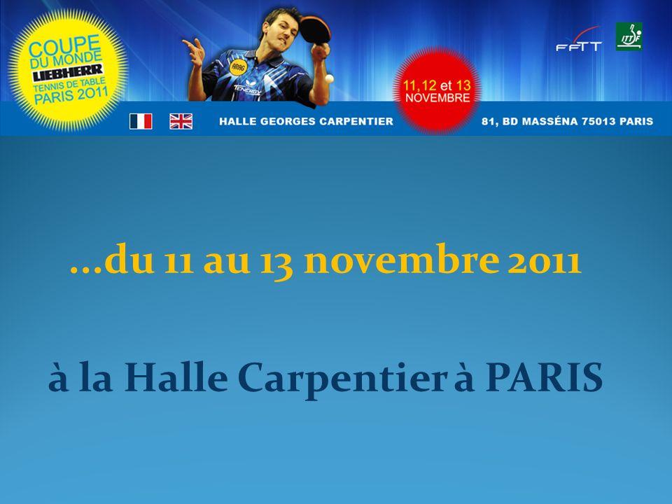 ...du 11 au 13 novembre 2011 à la Halle Carpentier à PARIS