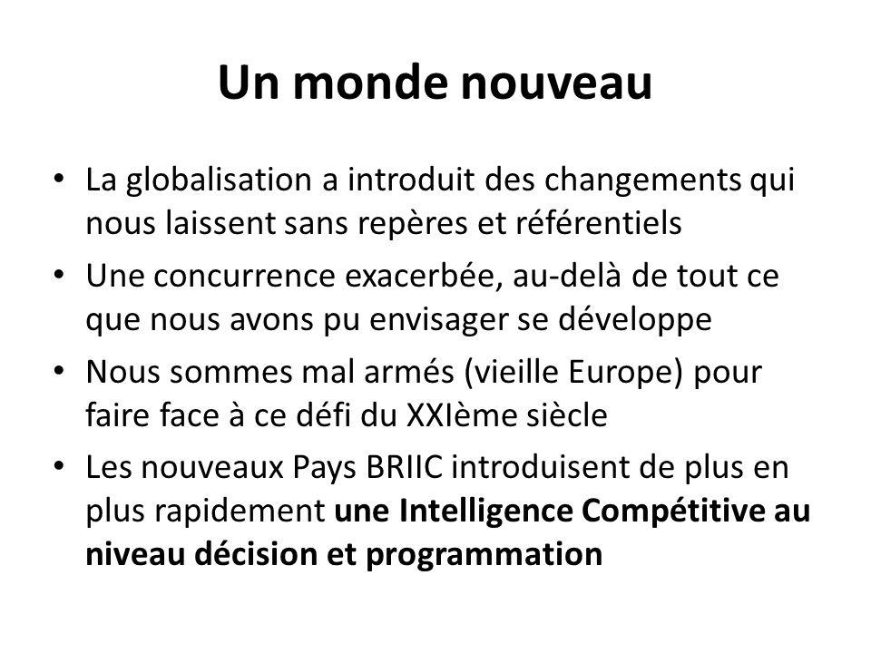 Un monde nouveau La globalisation a introduit des changements qui nous laissent sans repères et référentiels Une concurrence exacerbée, au-delà de tou