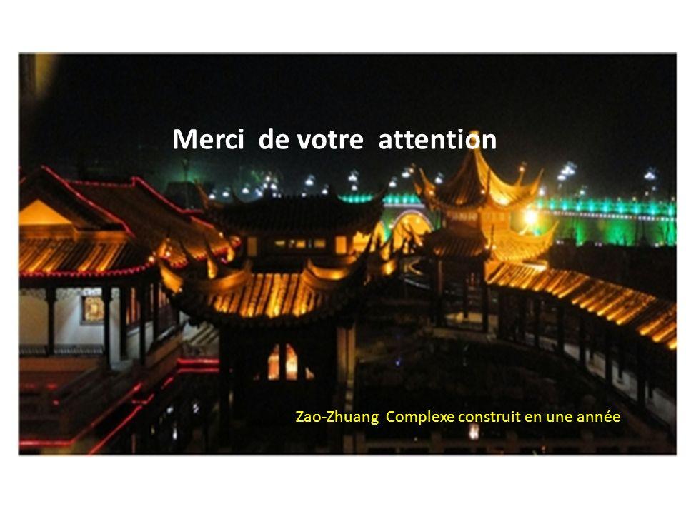 Merci de votre attention Zao-Zhuang Complexe construit en une année