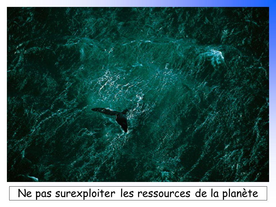 B. Pajot - mars 2007 Ne pas surexploiter les ressources de la planète