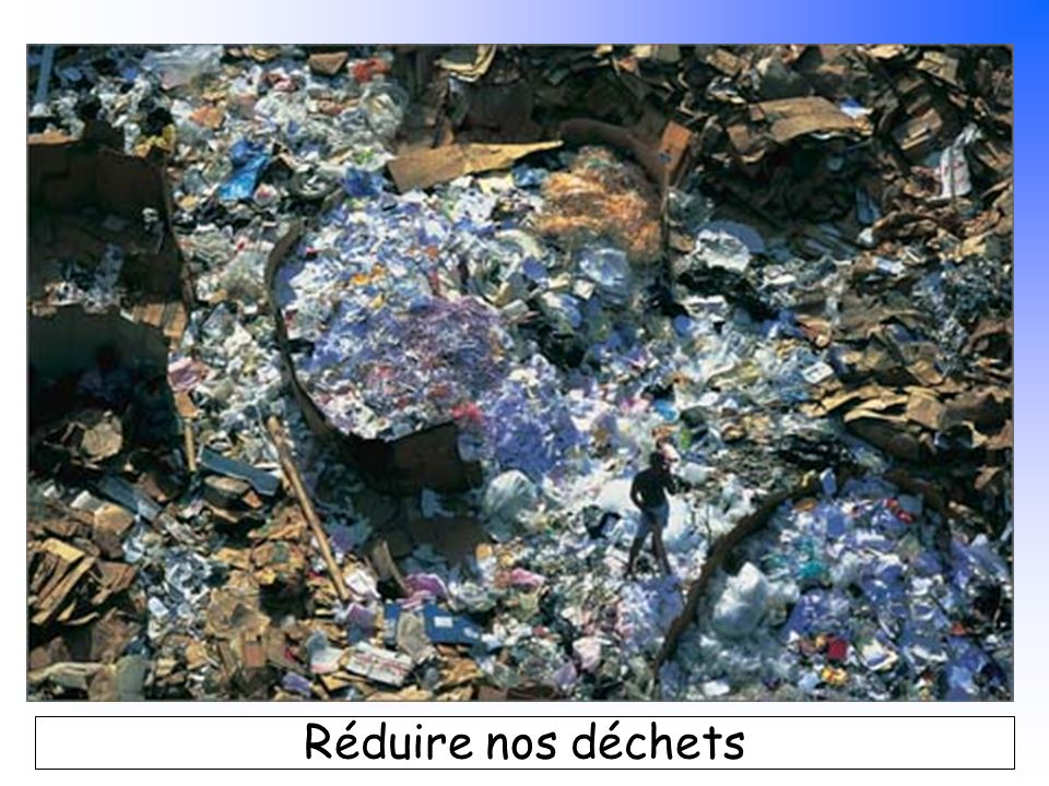 B. Pajot - mars 2007 Réduire nos déchets