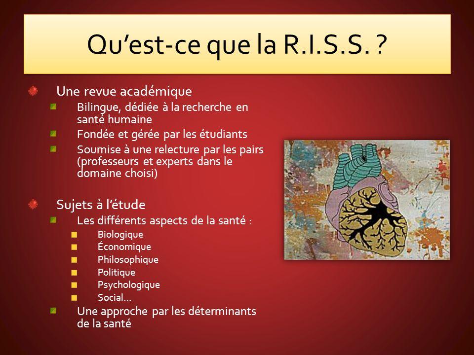 Quest-ce que la R.I.S.S.