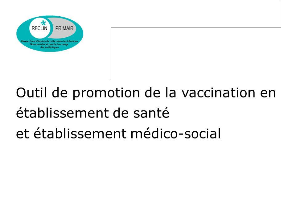 Contexte (1) Code de la santé publique (art L.3111-4 et L.3112) rendant obligatoire certaines vaccinations – pour des personnels particulièrement exposés des filières médicales et paramédicales (+ étudiants) – les professions à caractère sanitaire ou social Code du travail (art R.231-65) qui prévoit quun employeur peut recommander une vaccination, sur proposition du médecin du travail Circulaire DHOS/E2/DGS/RI n°2009-272 du 26 août 2009 relative à la mise en œuvre du programme national de prévention des infections nosocomiales 2009-2013 Circulaire interministérielle DGCS/DGS n° 2011-377 du 30 septembre 2011 relative à la mise en oeuvre du programme national de prévention des infections dans le secteur médicosocial 2011/2013 Réglementaire