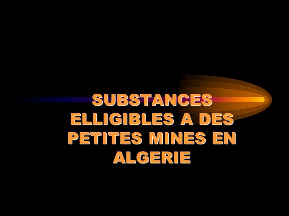 DEPOTS AURIFERES Indices d or mis en évidence au Hoggar et au Nord de l Algérie.