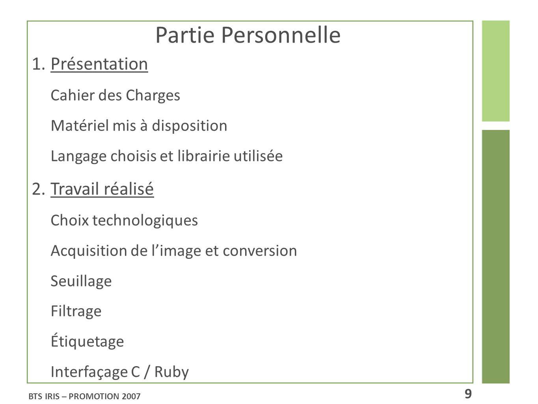 Partie Personnelle 1.