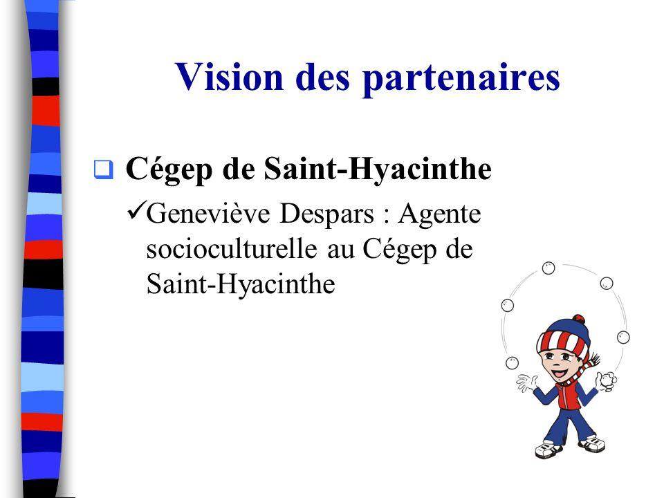 Cégep de Saint-Hyacinthe Geneviève Despars : Agente socioculturelle au Cégep de Saint-Hyacinthe