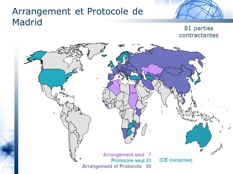 Arrangement et Protocole de Madrid 81 parties contractantes