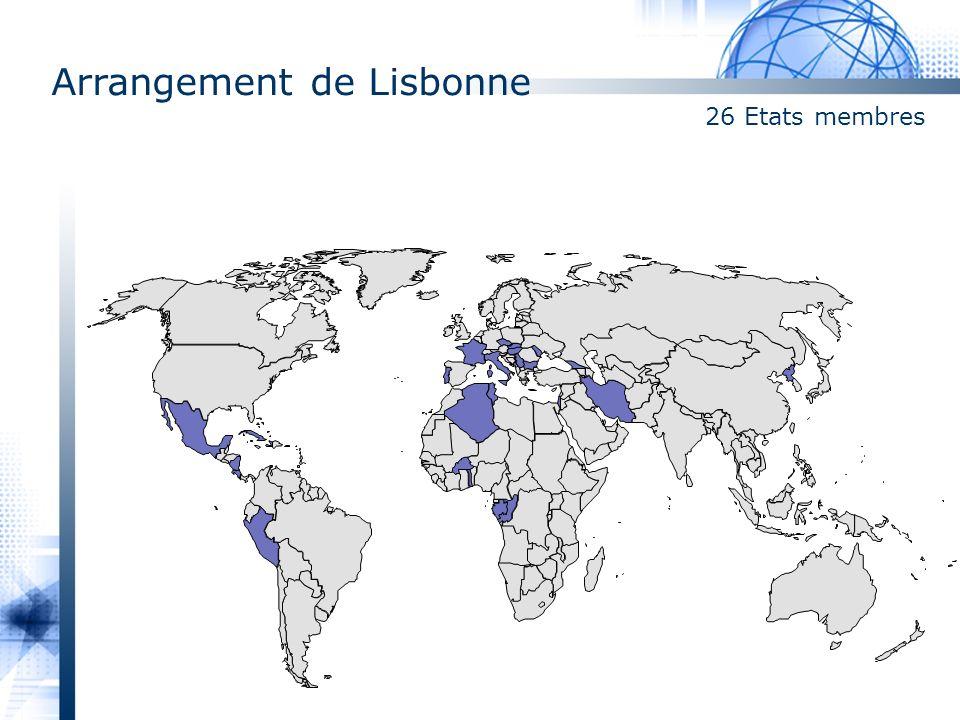 Arrangement de Lisbonne 26 Etats membres