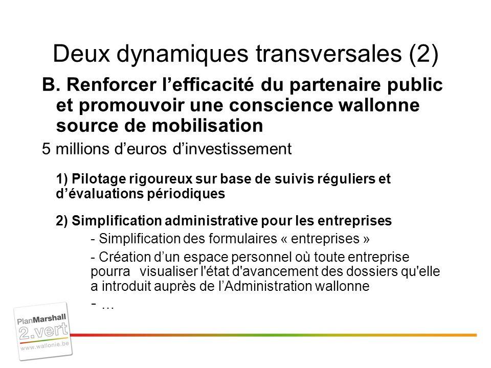 Deux dynamiques transversales (2) B.