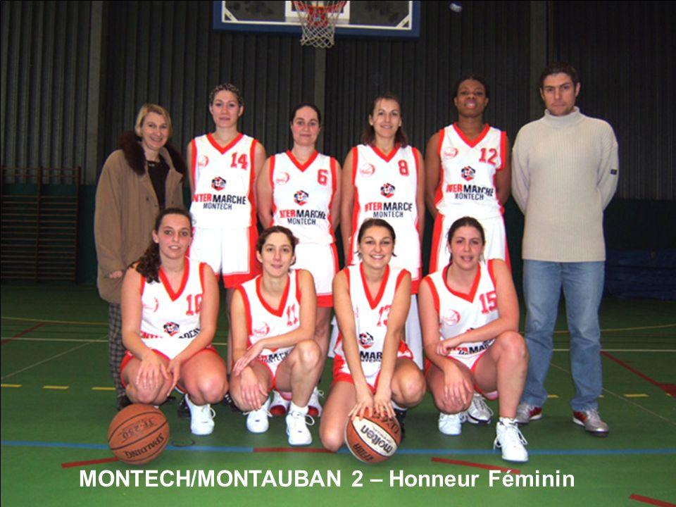 MONTECH/MONTAUBAN 2 – Honneur Féminin