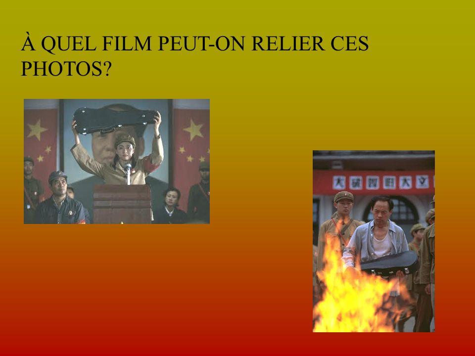 À QUEL FILM PEUT-ON RELIER CES PHOTOS?