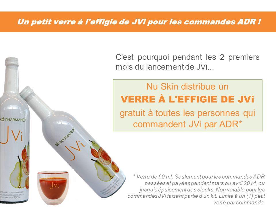 Un petit verre à l'effigie de JVi pour les commandes ADR ! * Verre de 60 ml. Seulement pour les commandes ADR passées et payées pendant mars ou avril