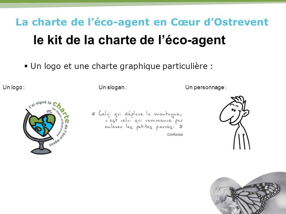 La charte de léco-agent en Cœur dOstrevent le kit de la charte de léco-agent Un logo et une charte graphique particulière : Un logo :Un slogan :Un per