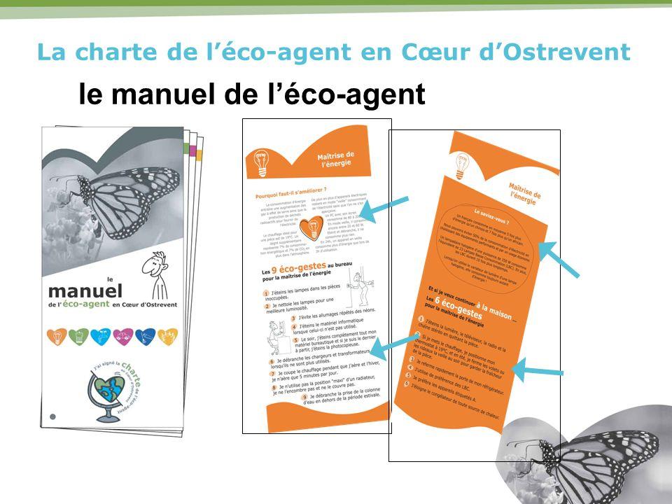 La charte de léco-agent en Cœur dOstrevent le manuel de léco-agent