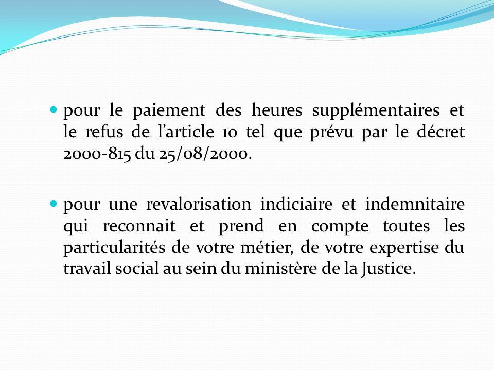pour la préservation de la filière sociale composée dassistants sociaux et de conseillers dinsertion et de probation de ladministration pénitentiaire