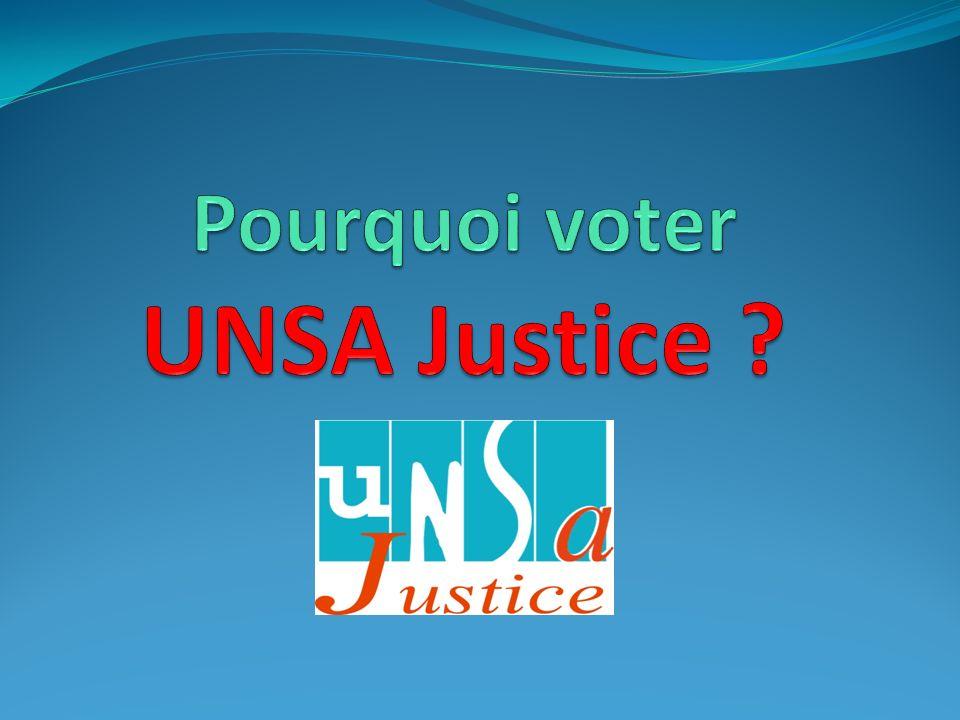 Adjoints Techniques VOTEZ et faites VOTER UNSA Justice