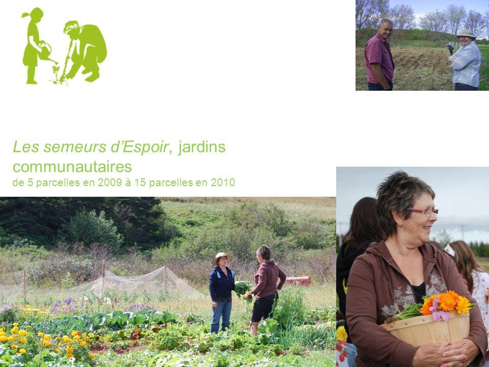 Les semeurs dEspoir, jardins communautaires de 5 parcelles en 2009 à 15 parcelles en 2010