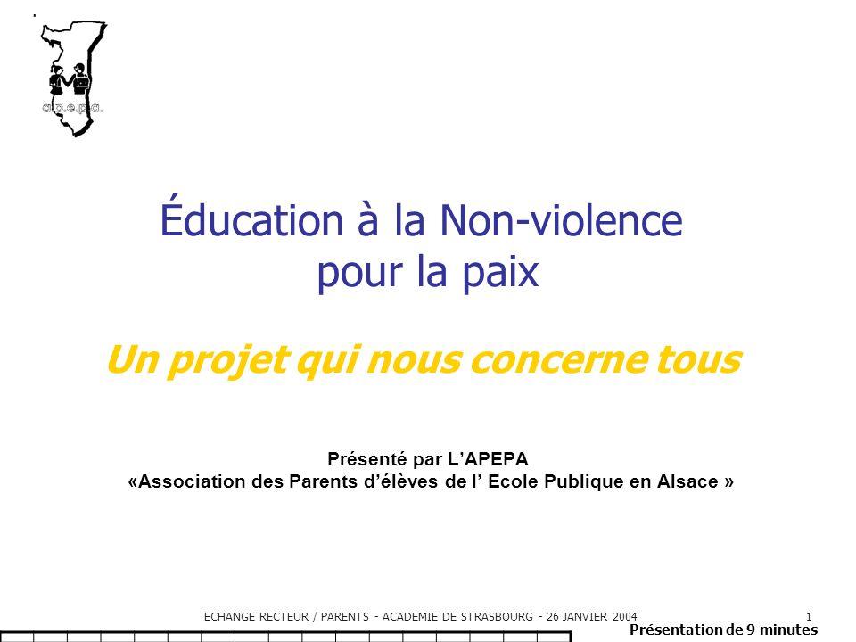ECHANGE RECTEUR / PARENTS - ACADEMIE DE STRASBOURG - 26 JANVIER 200412 Témoignage Quelle violence .