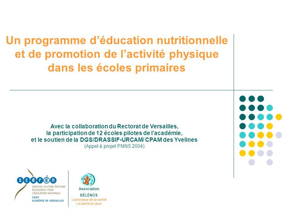 Un programme déducation nutritionnelle et de promotion de lactivité physique dans les écoles primaires Association BÉLÉNOS Les enjeux de la santé La s