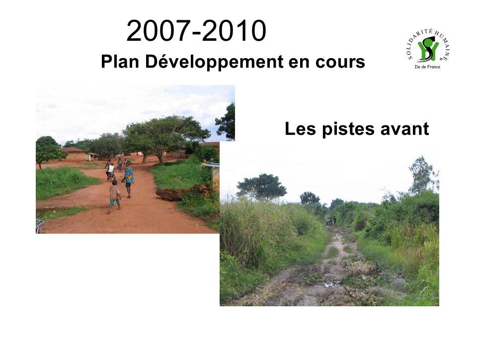 2007-2010 Plan Développement en cours Les pistes avant