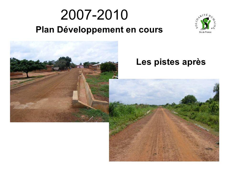 2007-2010 Plan Développement en cours Les pistes après