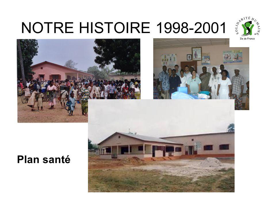 NOTRE HISTOIRE 1998-2001 Plan santé